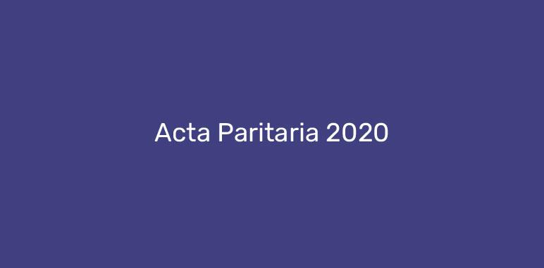Acta Paritaria 2020