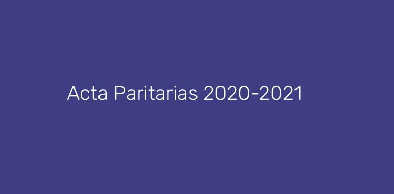 Acta Paritaria 2020 - 2021.