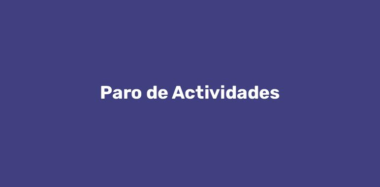 Paro de Actividades